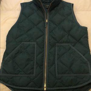 J Crew teal puffer vest!